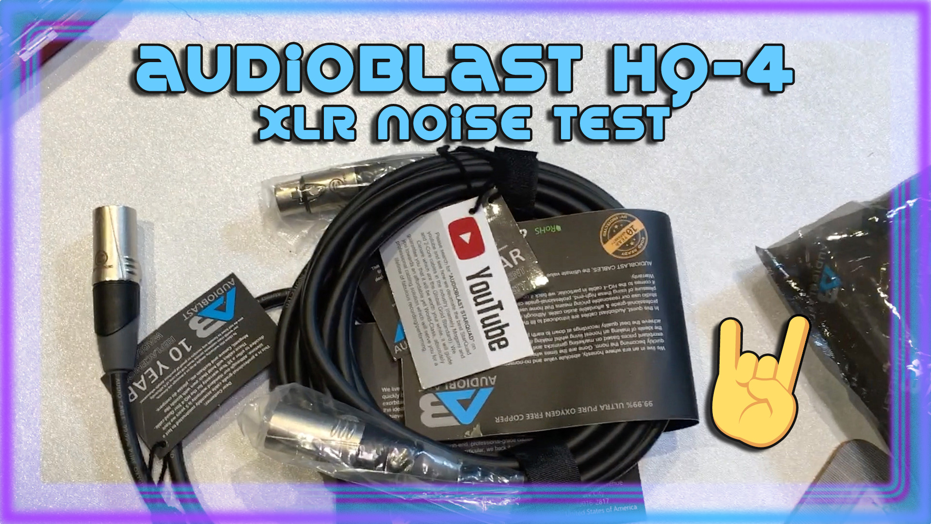 Audioblast HQ-4 XLR Noise Test